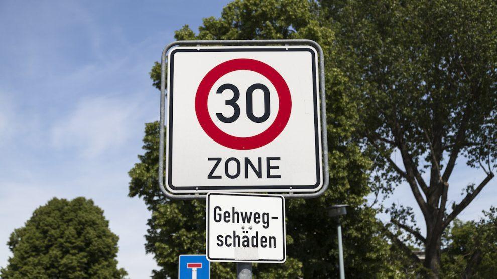 Geschwindigkeitsüberschreitung 30er-Zone