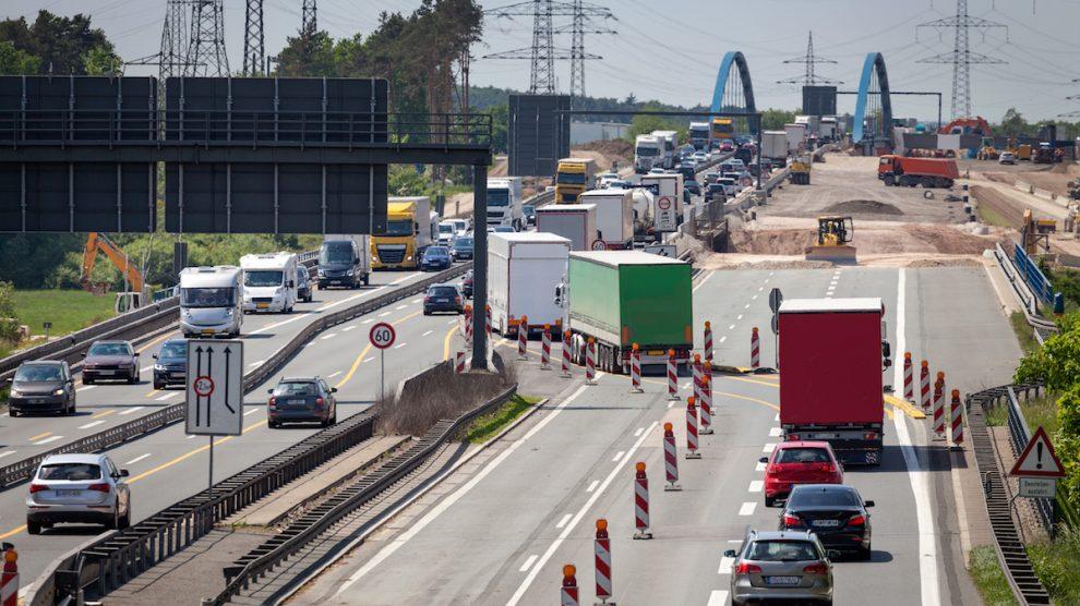 Autobahnbaustelle Geschwindigkeit