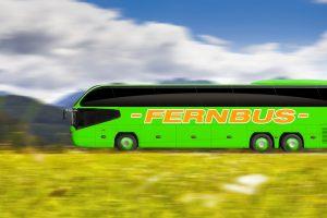 Rechte Verspätung Fernbus