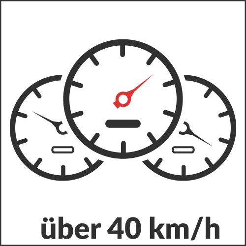 über 40 km/h