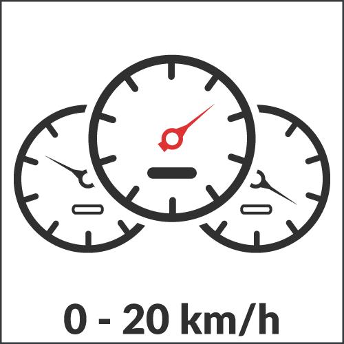 0 - 20 km/h