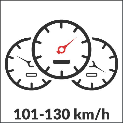 101-130 km/h