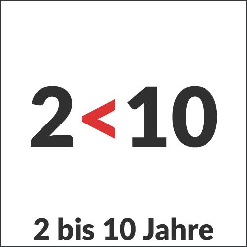 2 bis 10 Jahre