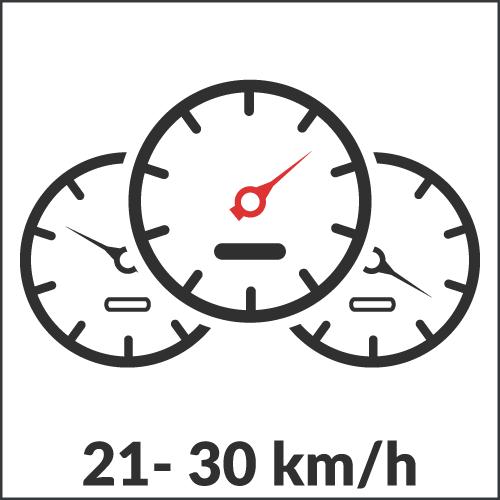 21 - 30 km/h