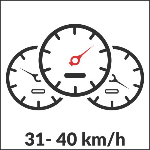 31 - 40 km/h