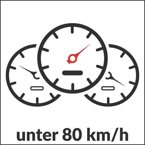 unter 80 km/h